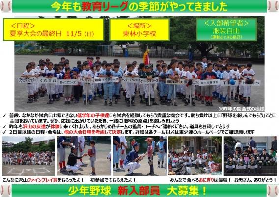 教育リーグ 夏季大会最終日